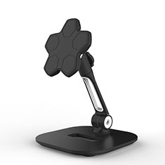 Support de Bureau Support Tablette Flexible Universel Pliable Rotatif 360 H03 pour Samsung Galaxy Tab A6 7.0 SM-T280 SM-T285 Noir