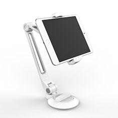 Support de Bureau Support Tablette Flexible Universel Pliable Rotatif 360 H04 pour Samsung Galaxy Tab S 10.5 LTE 4G SM-T805 T801 Blanc
