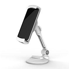 Support de Bureau Support Tablette Flexible Universel Pliable Rotatif 360 H05 pour Samsung Galaxy Tab A6 10.1 SM-T580 SM-T585 Blanc