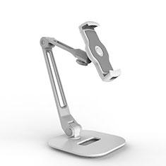 Support de Bureau Support Tablette Flexible Universel Pliable Rotatif 360 H10 pour Huawei MatePad 5G 10.4 Blanc