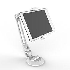 Support de Bureau Support Tablette Flexible Universel Pliable Rotatif 360 H12 pour Samsung Galaxy Tab S 10.5 LTE 4G SM-T805 T801 Blanc