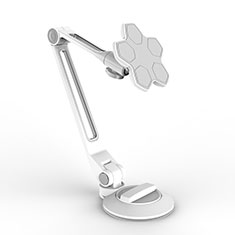 Support de Bureau Support Tablette Flexible Universel Pliable Rotatif 360 H14 pour Apple iPad Mini 4 Blanc