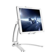 Support de Bureau Support Tablette Flexible Universel Pliable Rotatif 360 K05 pour Huawei MediaPad M5 Lite 10.1 Argent