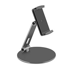Support de Bureau Support Tablette Flexible Universel Pliable Rotatif 360 K10 pour Huawei MediaPad T3 7.0 BG2-W09 BG2-WXX Noir