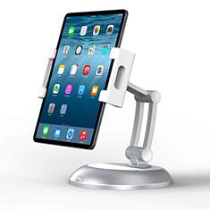 Support de Bureau Support Tablette Flexible Universel Pliable Rotatif 360 K11 pour Samsung Galaxy Tab S 10.5 LTE 4G SM-T805 T801 Argent