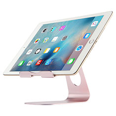 Support de Bureau Support Tablette Flexible Universel Pliable Rotatif 360 K15 pour Apple New iPad Air 10.9 (2020) Or Rose