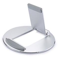 Support de Bureau Support Tablette Flexible Universel Pliable Rotatif 360 K16 pour Apple New iPad Air 10.9 (2020) Argent