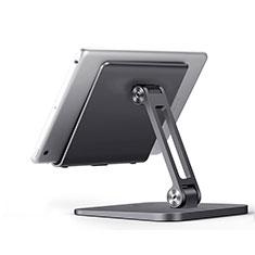 Support de Bureau Support Tablette Flexible Universel Pliable Rotatif 360 K17 pour Huawei MatePad 5G 10.4 Gris Fonce
