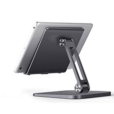 Support de Bureau Support Tablette Flexible Universel Pliable Rotatif 360 K17 pour Huawei MatePad T 10s 10.1 Gris Fonce