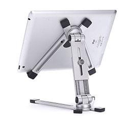 Support de Bureau Support Tablette Flexible Universel Pliable Rotatif 360 K19 pour Apple iPad Air 3 Argent