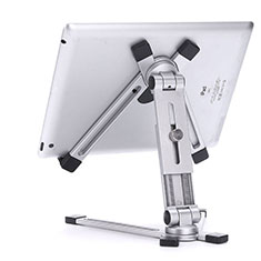 Support de Bureau Support Tablette Flexible Universel Pliable Rotatif 360 K19 pour Huawei MediaPad M5 Lite 10.1 Argent