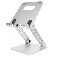 Support de Bureau Support Tablette Flexible Universel Pliable Rotatif 360 K20 pour Apple iPad Air 3 Argent