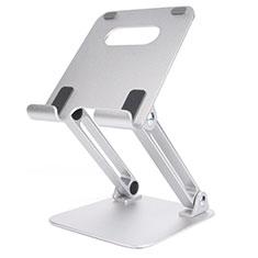 Support de Bureau Support Tablette Flexible Universel Pliable Rotatif 360 K20 pour Apple New iPad Air 10.9 (2020) Argent