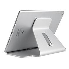 Support de Bureau Support Tablette Flexible Universel Pliable Rotatif 360 K21 pour Apple New iPad Air 10.9 (2020) Argent