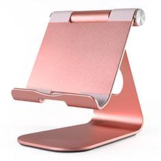 Support de Bureau Support Tablette Flexible Universel Pliable Rotatif 360 K23 pour Huawei MatePad 5G 10.4 Or Rose