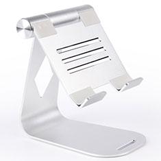 Support de Bureau Support Tablette Flexible Universel Pliable Rotatif 360 K25 pour Apple New iPad Air 10.9 (2020) Argent