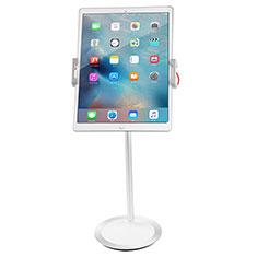 Support de Bureau Support Tablette Flexible Universel Pliable Rotatif 360 K27 pour Apple New iPad Air 10.9 (2020) Blanc