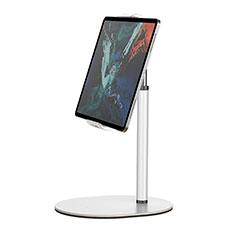 Support de Bureau Support Tablette Flexible Universel Pliable Rotatif 360 K28 pour Apple New iPad Air 10.9 (2020) Blanc