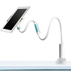 Support de Bureau Support Tablette Flexible Universel Pliable Rotatif 360 pour Samsung Galaxy Tab S 8.4 SM-T705 LTE 4G Blanc