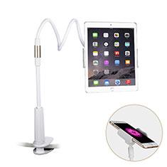Support de Bureau Support Tablette Flexible Universel Pliable Rotatif 360 T29 pour Samsung Galaxy Tab S3 9.7 SM-T825 T820 Blanc