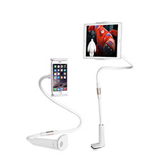 Support de Bureau Support Tablette Flexible Universel Pliable Rotatif 360 T30 pour Apple iPad Mini 5 (2019) Blanc