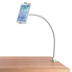 Support de Bureau Support Tablette Flexible Universel Pliable Rotatif 360 T37 pour Samsung Galaxy Tab 4 7.0 SM-T230 T231 T235 Blanc