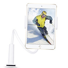 Support de Bureau Support Tablette Flexible Universel Pliable Rotatif 360 T38 pour Apple iPad New Air (2019) 10.5 Blanc