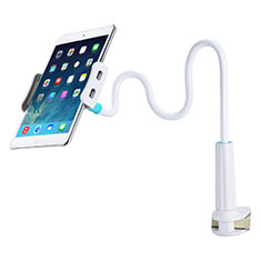 Support de Bureau Support Tablette Flexible Universel Pliable Rotatif 360 T39 pour Apple iPad Mini 5 (2019) Blanc