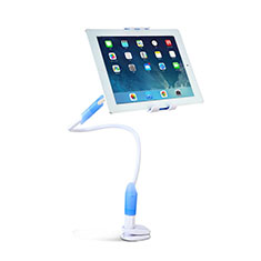 Support de Bureau Support Tablette Flexible Universel Pliable Rotatif 360 T41 pour Apple iPad Mini 5 (2019) Bleu Ciel