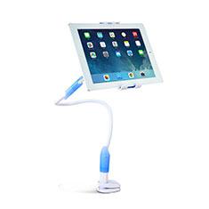 Support de Bureau Support Tablette Flexible Universel Pliable Rotatif 360 T41 pour Apple iPad Pro 12.9 (2018) Bleu Ciel
