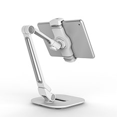 Support de Bureau Support Tablette Flexible Universel Pliable Rotatif 360 T44 pour Apple iPad 2 Argent