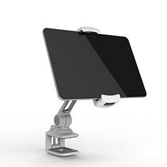 Support de Bureau Support Tablette Flexible Universel Pliable Rotatif 360 T45 pour Samsung Galaxy Tab 3 8.0 SM-T311 T310 Argent