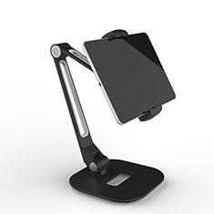Support de Bureau Support Tablette Flexible Universel Pliable Rotatif 360 T46 pour Samsung Galaxy Tab S 10.5 LTE 4G SM-T805 T801 Noir