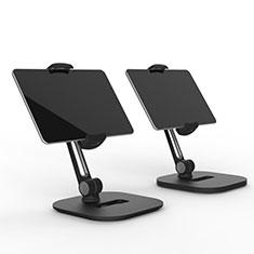 Support de Bureau Support Tablette Flexible Universel Pliable Rotatif 360 T47 pour Samsung Galaxy Tab S3 9.7 SM-T825 T820 Noir