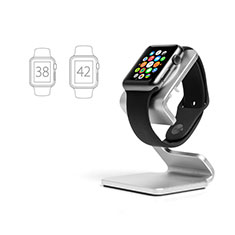 Support de Station de Charge Pied Support Crochet C01 pour Apple iWatch 38mm Argent