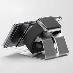 Support de Station de Charge Pied Support Crochet C03 pour Apple iWatch 5 44mm Noir
