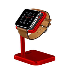 Support de Station de Charge Pied Support Crochet pour Apple iWatch 3 42mm Rouge