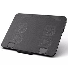 Support Ordinateur Portable Ventilateur de Refroidissement Radiateur Universel 9 Pouces a 16 Pouces M21 pour Apple MacBook 12 pouces Noir