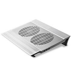 Support Ordinateur Portable Ventilateur de Refroidissement Radiateur Universel 9 Pouces a 16 Pouces M26 pour Apple MacBook 12 pouces Argent