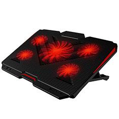 Support Ordinateur Portable Ventilateur de Refroidissement Radiateur Universel 9 Pouces a 17 Pouces L02 pour Apple MacBook 12 pouces Noir