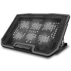 Support Ordinateur Portable Ventilateur de Refroidissement Radiateur Universel 9 Pouces a 17 Pouces L03 pour Apple MacBook 12 pouces Noir