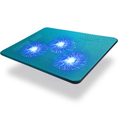 Support Ordinateur Portable Ventilateur de Refroidissement Radiateur Universel 9 Pouces a 17 Pouces L04 pour Apple MacBook 12 pouces Bleu