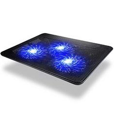 Support Ordinateur Portable Ventilateur de Refroidissement Radiateur Universel 9 Pouces a 17 Pouces L04 pour Apple MacBook 12 pouces Noir
