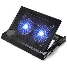 Support Ordinateur Portable Ventilateur de Refroidissement Radiateur Universel 9 Pouces a 17 Pouces L06 pour Apple MacBook 12 pouces Noir