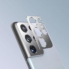 Verre Trempe Protecteur de Camera Protection pour Samsung Galaxy S21 Ultra 5G Argent