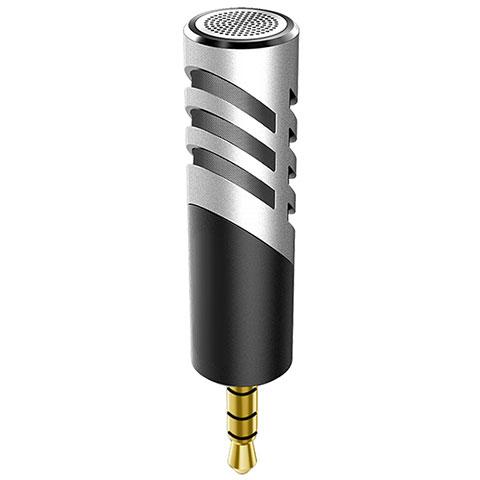 3.5mm Mini Microphone de Poche Elegant Karaoke Haut-Parleur M09 Argent