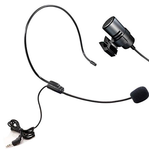 3.5mm Mini Microphone de Poche Elegant Karaoke Haut-Parleur M11 Noir