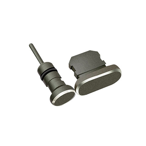 Bouchon Anti-poussiere Lightning USB Jack J01 pour Apple iPhone 11 Noir