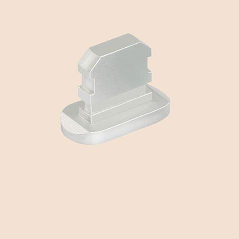 Bouchon Anti-poussiere Lightning USB Jack J06 pour Apple iPhone 11 Pro Argent