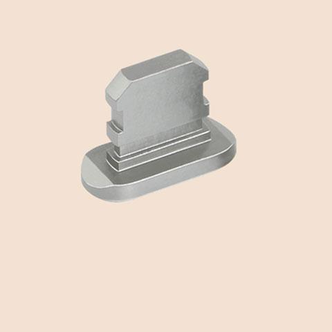 Bouchon Anti-poussiere Lightning USB Jack J06 pour Apple iPhone 11 Pro Max Gris